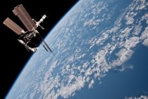 Space shuttle Endeavour docked with the International Space Station  miles above the Earth