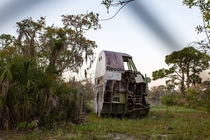 Space Shuttle Resolution a full-sized cockpit simultaion left to rot in Florida swampland