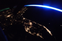 Space Stations view of Florida at night - NASA
