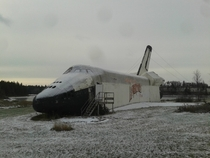 Spaceshuttle in abandoned amusement park Prince Edward Island Canada