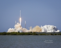 SpaceX CRS- liftoff as seen from the NASA Causeway