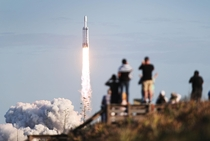 SpaceX Falcon Heavy rocket lift off from launch pad A at NASAs Kennedy Space Center on April   in Titusville Florida Photo Joe Raedle