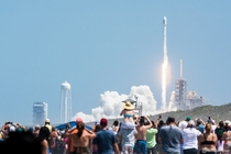 SpaceX Falcon  Lifts off from Pad A as seen for the first time ever from Playalinda Beach