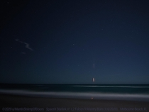 SpaceX Falcon  Starlink V L Launch  Reentry Burn amp nd Stage - Melbourne Beach FL LG G-ISO-s-f