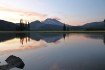 Sparks Lake Oregon Sunset