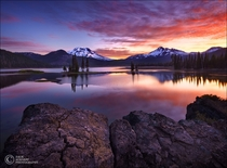 Sparks Lake Sunrise  by Zack Schnepf