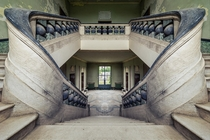 Special stairs in an enclosed Italian orphanage