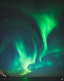 Spectacular aurora seen from Senja Norway