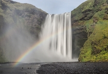 Spectacular Skogafoss waterfall Iceland You couldve seen it in Thor The Dark World The Secret Life of Walter Mitty and TV series Vikings