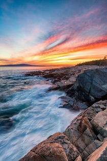 Spectacular Sunset over Acadia NP Maine