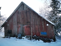 Spent a good portion of my childhood in the house next to this barn Skarnes Odalen Norway
