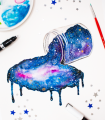 Spilled Galaxy Painting