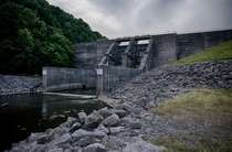 Spillway at Tennessee Valley Authority Normandy Dam Duck River Tennessee