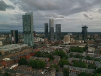 Spinningfields to Deansgate Manchester UK