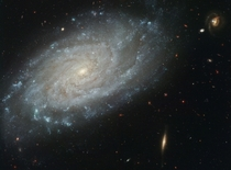 Spiral Galaxy NGC  This galaxy which lies about  million light-years away toward the direction of the constellation Leo was home to a supernova that appeared in