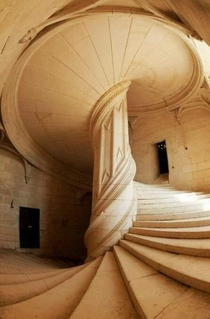 Spiral staircase designed by Leonardo Da Vinci In