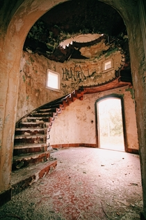 Spiral Staircase from Castle Style Home Florida