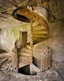 Spiral staircase North Brother Island NY