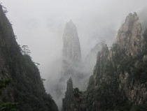 Spire Through The Mist Huangshan China