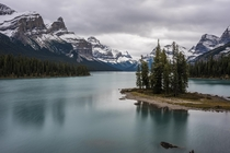 Spirit island found in Maligne Lake Canada