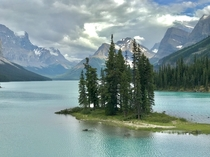 Spirit Island Maligne Lake Alberta  Canada  not actually an island