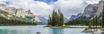 Spirit Island on Maligne Lake Jasper National Park