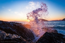 Splash Enjoying sunset at Deception Pass State Park WA with my girlfriend when she said You should get that shot Glad I did
