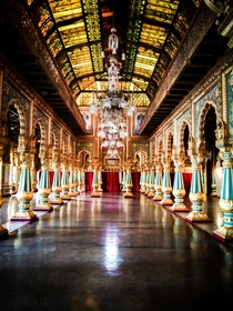 Splendid architecture of late th century Mysore palace India