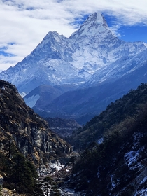 Splendor of Mt Ama Dablam in the Nepalese Himalayas
