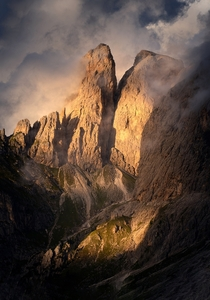 Spotlight on the wall Dolomites South Tyrol