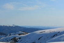Spring backcountry skiing on Mt Bogong - the highest mountain in Victoria Australia