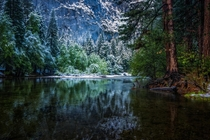 Spring Storm on Merced River in Yosemite CA  Photo by Mark Cote