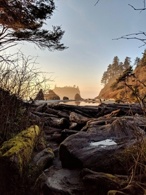Spring sunsets at Ruby Beach WA