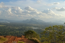 Sri Lanka from atop the Sigiriyan Lion Fortress