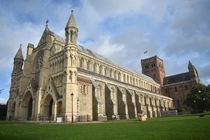 St Albans Cathedral Construction of it began in  following the Norman conquest of England OC