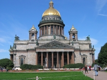 St Issacs Cathedral   St Petersburg Designed by Auguste de Montferrand and completed in