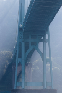 St Johns Bridge across the Willamette River in Portland USA