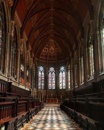 St Johns college chapel in Cambridge UK