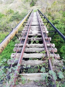 St Kitts abandoned railway used to transport sugar cane harvests