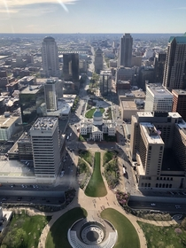 St Louis from the top of the arch