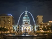 St Louis Missouri Old Courthouse and Arch