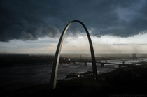 St Louis right before an intense storm x