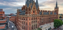 St Pancras Hotel and Station London Faced demolition at one point but survived after fierce opposition and was instead refurbished becoming the Eurostar Terminus linking Britain and France by rail Beauty Matters