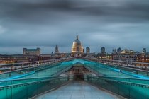 St Pauls Cathedral from Millenium Bridge London
