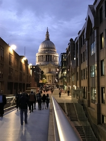 St Pauls Cathedral from Millennium Bridge London