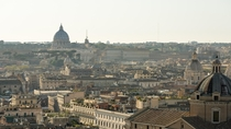 St Peters Basilica seen from the Altar of the Fatherland - Rome Italy