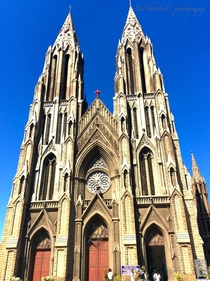 St Philomenas Church Mysore India by Daly