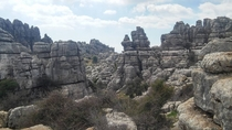 Stacked rocks at El Torcal Spain