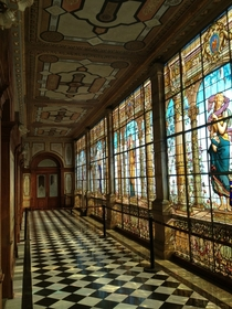 Stained Glass in Chapultapec Castle Mexico City
