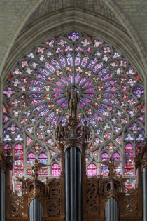Stained glass in Tours Cathedral France